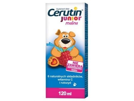Cerutin Junior Malina płyn 120 ml