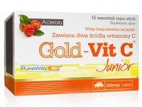 OLIMP Gold-Vit C Junior o smaku malinowym 15 sasz.